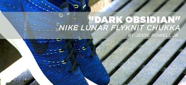 competitive price 356ba fcb00 Dark Obsidian ~ Nike Lunar FlyKnit Chukka