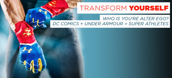 Who's Your Alter Ego? DC Comics + Under Armour = Superhero Sportswear