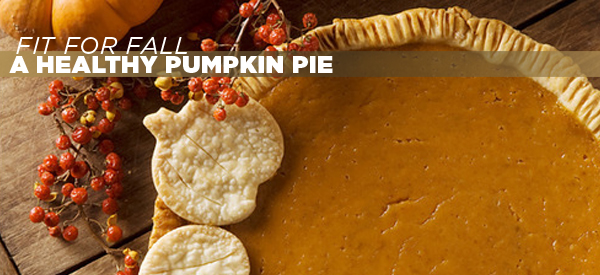 Fit For Fall ~ A Healthy Pumpkin Pie