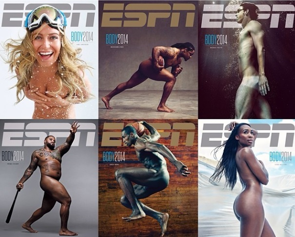 "Top Athletes Pose Nude for ESPN the Magazine's ""Body Issue"""